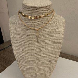 gold layer brandy melville choker necklace